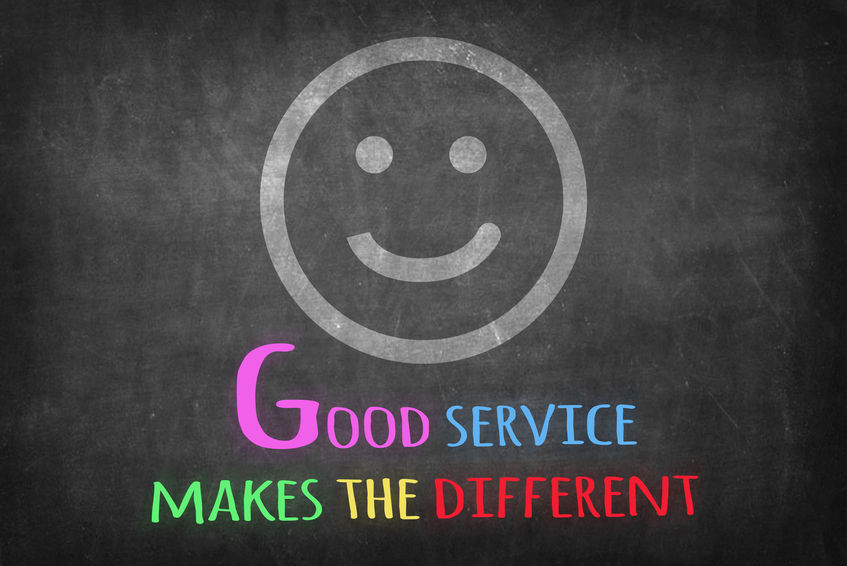 52262607 - good service makes the different on blackboard